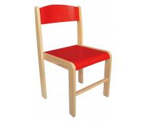 [Dřevěná židle BUK - výška sedu 38 cm - červená]
