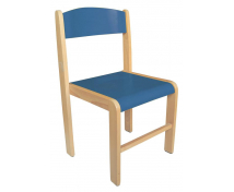 [Dřevěná židle BUK - výška sedu 38 cm - modrá]