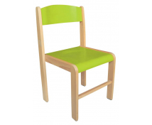 [Dřevěná židle BUK - výška sedu 38 cm - zelená]