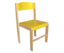 [Dřevěná židle BUK - výška sedu 38 cm - žlutá]