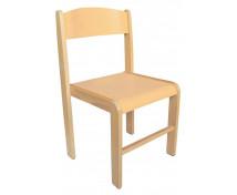 [Dřevěná židle BUK - výška sedu 38 cm - přírodní]