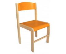 [Dřevěná židle BUK - výška sedu 38 cm - oranžová]