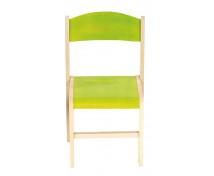 [Dřevěná židle JAVOR 38 cm zelená]