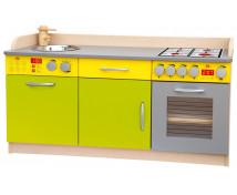 [Elegantní kuchyňka MIDI-zeleno-žlutá]