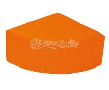 [Čtvrtkruhová taburetka - oranžová]