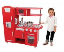[Červená retro kuchyň - bez příslušenství !]