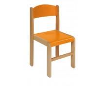 [Dřevěná židlička BUK 26 cm - oranžová]