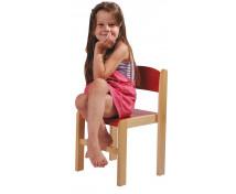 [Dřevěná židlička BUK 31 cm - červená]