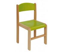 [Dřevěná židlička BUK 31 cm - zelená]