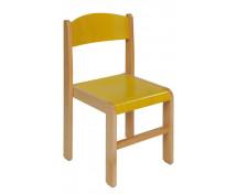 [Dřevěná židlička BUK 35 cm - žlutá]