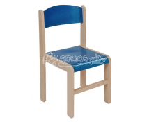 [Dřevěná židle JAVOR modrá 26 cm]
