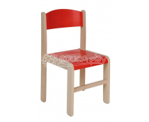 [Dřevěná židle JAVOR  červená 31 cm]