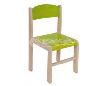 [Dřevěná židle JAVOR zelená 31 cm]