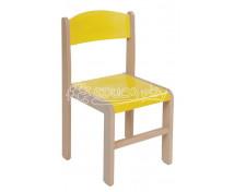 [Dřevěná židle JAVOR žlutá 35 cm]
