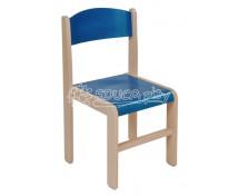[Dřevěná židle JAVOR modrá 35 cm]