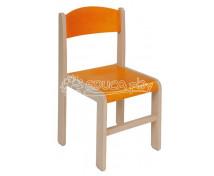 [Dřevěná židle JAVOR oranžová 35 cm]