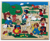 [Dřevěné puzzle – čtyři roční období Jarní období]