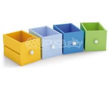 [Dřevěné zásuvky - 3  ks světle modrá]