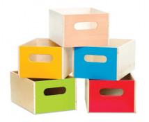 [Dřevěný kontejner - 1 kus – modrý]
