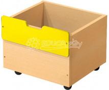 [Box dřevěný malý - žlutý]