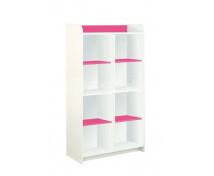 """[Vysoké skříňky """"L"""" se 6 poličkami - růžová]"""
