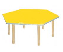 [Pastelový stůl - šestiúhelník - žlutý]