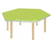 [Pastelový stůl - šestiúhelník - zelený]
