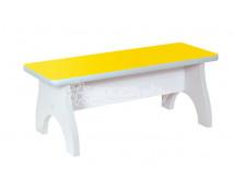 [Pastelové lavičky - 3 místné - žlutá]