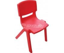 [Plastová židlička - výška 30 cm - červená]
