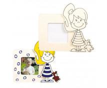[Dřevěný rámeček na fotku - děvčátko]
