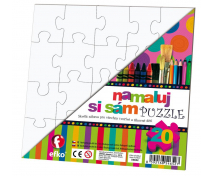 [Bílé puzzle - Čtverec]
