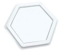 [Poduška na razítkové barvy - Šestiúhelník (14 x 14 cm)]