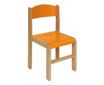[Dřevěné židle buk 38 - oranžová]