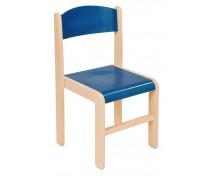 [Dřevěné židle  javor 38 - modrá]