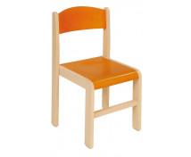 [Dřevěné židle  javor 38 - oranžová]