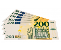 [Euro bankovky - 200 euro - 100 ks]