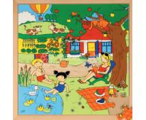 [Naše rodina po celý rok puzzle - Léto, 36 ks]