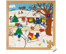 [Naše rodina po celý rok puzzle - Zima, 64 ks]