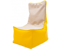 [Fotel relaksacyjny dla dzieci - żółto-waniliowy]