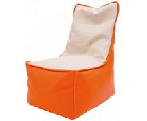[Fotel relaksacyjny dla dzieci -pomarańcz-waniliowy]