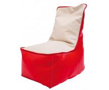 [Fotel relaksacyjny dla dzieci - czerwono-waniliowy]