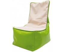 [Fotel relaksacyjny dla dzieci - zielono-waniliowy]