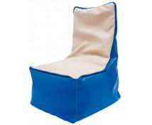 [Fotel relaksacyjny dla dzieci -niebiesko-waniliowy]