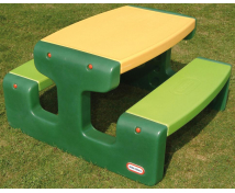 [Stolik piknikowy dla dzieci - zielony]