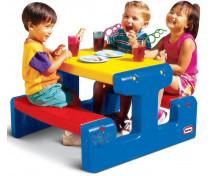 [Stolik piknikowy dla dzieci - niebieski ]