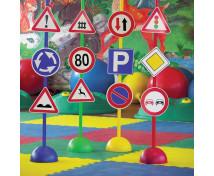 [Zestaw znaków drogowych, prętów i klocków 3]