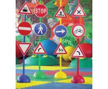 [Zestaw znaków drogowych, prętów i klocków 2]