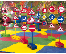 [Zestaw znaków drogowych, prętów i klocków 1]