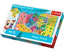 [Edukacyjne Puzzle - Mapa Polski]
