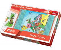 [Edukacyjne Puzzle - Mapa Europy]